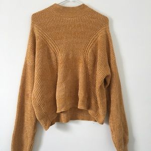 Kendall and Kylie mock neck sweater